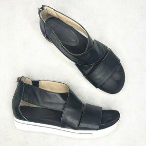Adrienne Vittadini Claud Sandal Black Leather